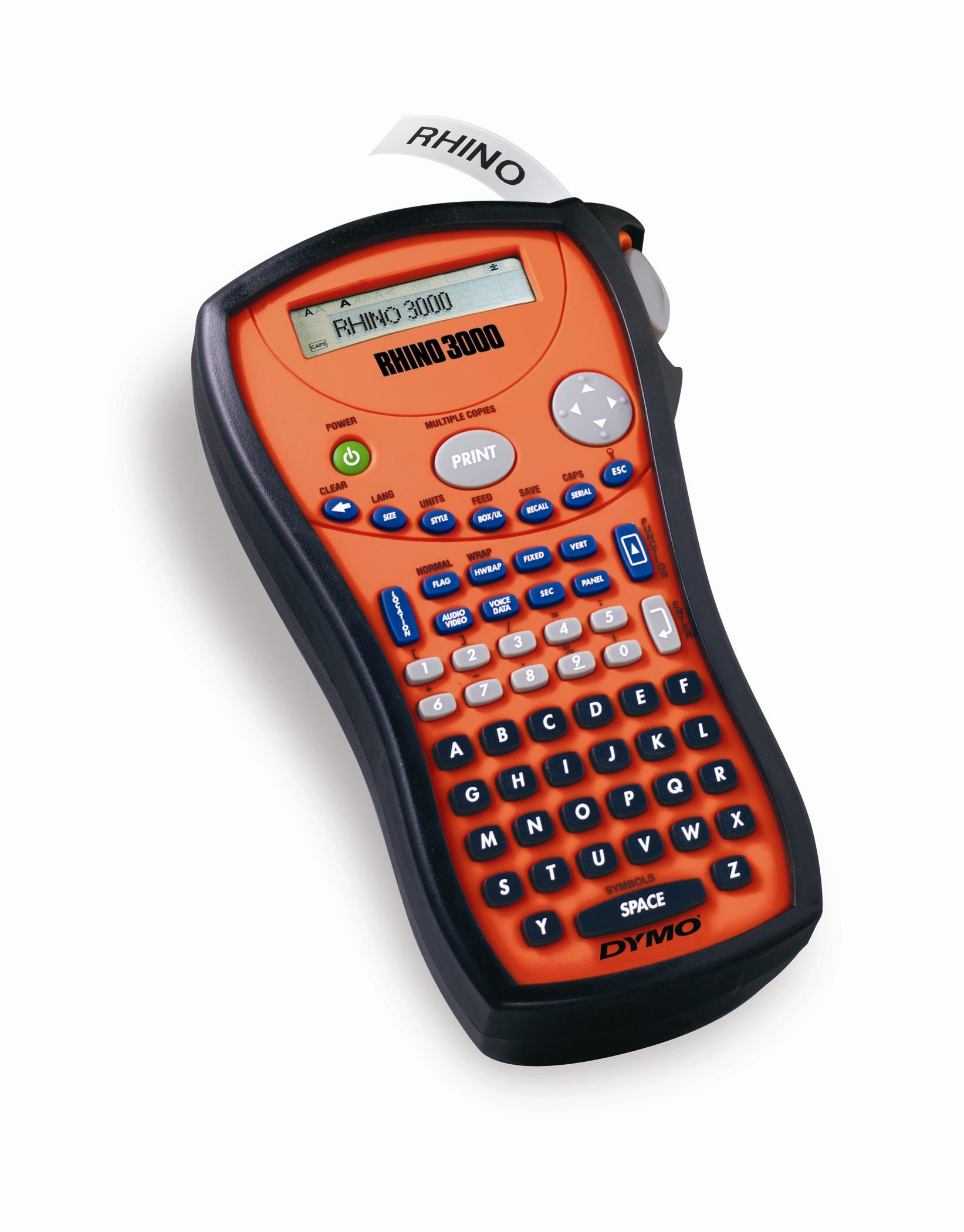 Dymo Rhino 3000 Professional label and heat shrink tubing printer